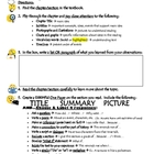 Textbook Reading - Chapter Tour One Pager Activity Worksheet