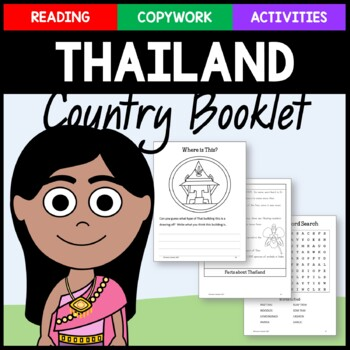 Thailand Copywork and Activities