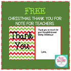 Thank You Note Template for Teachers