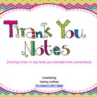 Thank You Notes {monthly notes to say thank you and build