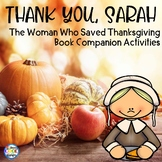 Thank You Sarah Thanksgiving Reading, Comprehension and Wr