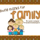 Thankful For Family {Freebie}
