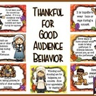 Thankful for Good Audience Behavior Bulletin Board Kit