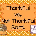 Thankful vs. Not Thankful Sort!