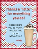 """""""Thanks A Latte""""  Freebie - Thank You Card/Gift"""