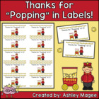 "Thanks for ""Popping In"" treat for Open House/Conferences Freebie!"
