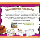 Thanksgiving ABC Order Center