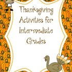Thanksgiving Activities For Intermediate Grades