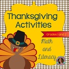 Thanksgiving Activities {Literacy and Math Pack}