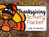 Thanksgiving Activity Packet