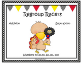 Thanksgiving Addition and Subtraction with Regrouping (Reg