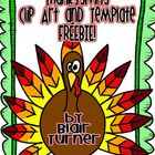Thanksgiving Clip Art and Templates FREEBIE!
