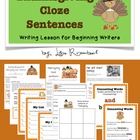 Thanksgiving Cloze Sentences Writing Lesson for Primary Grades