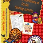Thanksgiving Coloring Activity Area & Circumference of Circles