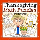 Thanksgiving Common Core Math Puzzles - 5th Grade