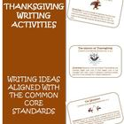 Thanksgiving Common Core Writing Activity Cards