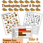 Thanksgiving Count &amp; Graph  - Common Core Measurement &amp; Data