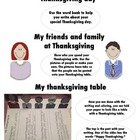 Thanksgiving Craft — Make The Table and Write about your Holiday