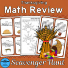 Thanksgiving Math Review Scavenger Hunt
