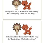 Thanksgiving Easy Reader and Activities