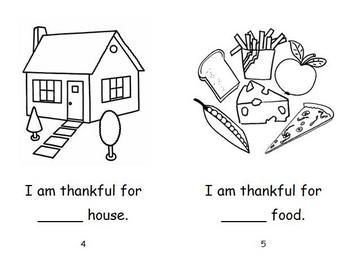 Thanksgiving Emergent Reader - I Am Thankful