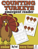 Thanksgiving Emergent Reader: Turkey Counting with One-to-