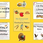 Thanksgiving English Literacy Centers &amp; Stations