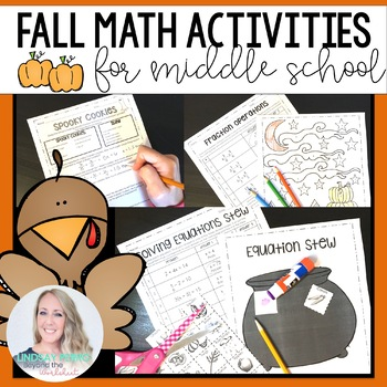 Thanksgiving, Fall and Halloween Middle School Math Activities