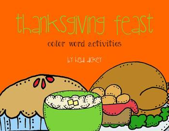 Thanksgiving Feast: Color Words Activities