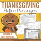 Thanksgiving Fictional Stories and Comprehension Activities