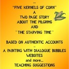 Thanksgiving Five Kernels of Corn Activities