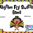Thanksgiving Fly Swatter Rhythm Game SMART Board