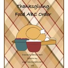 Thanksgiving Foods ABC Order