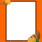Thanksgiving Frame--Bilingual (English and Spanish)