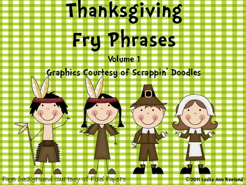 Thanksgiving Fry Phrases for November