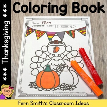 Thanksgiving Fun! Color For Fun Printable Coloring Pages