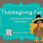 Thanksgiving Fun Literacy and Math Activities
