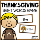 Thanksgiving GOBBLE! - Sight Word Bang! Game