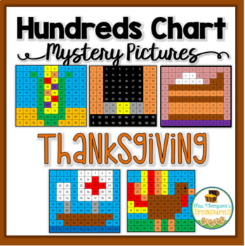Thanksgiving Math Hundreds Chart Mystery Pictures