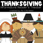 Thanksgiving Informative Reader's Theater