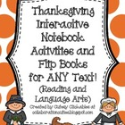 Thanksgiving Interactive Notebook Activities & Flip Books