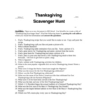 Thanksgiving Internet Scavenger Hunt