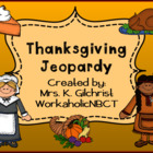 Thanksgiving Jeopardy Promethean ActivInspire Flipchart Game!