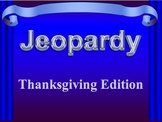 Thanksgiving Jeopardy for Middle/High School English Classes