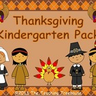 Thanksgiving Kindergarten Pack ~ Printables + Game Cards Pre-K/K