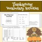 Thanksgiving Language Arts: Fill-in-the-Blanks Book and Wo