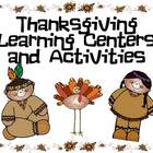 Thanksgiving Language Arts and Math Activities and Centers