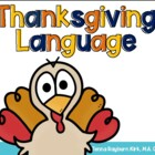 Thanksgiving Language: Speech Therapy Activities