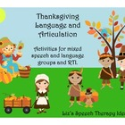 Thanksgiving Language and Articulation