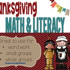 Thanksgiving Literacy & Math Activites